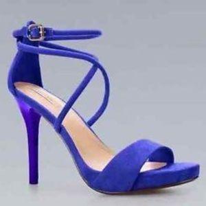 Blue Zara scrappy heel